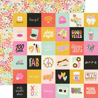 Simple Stories - Kate and Ash Collection - 12 x 12 Double Sided Paper - 2 x 2 Elements