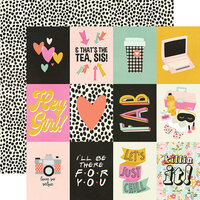 Simple Stories - Kate and Ash Collection - 12 x 12 Double Sided Paper - 3 x 4 Elements