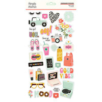 Simple Stories - Kate and Ash Collection - 6 x 12 Chipboard Stickers
