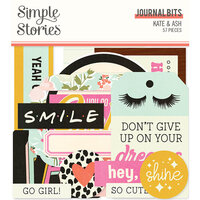 Simple Stories - Kate and Ash Collection - Ephemera - Journal Bits and Pieces