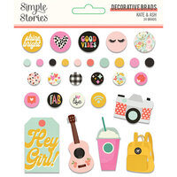 Simple Stories - Kate and Ash Collection - Decorative Brads