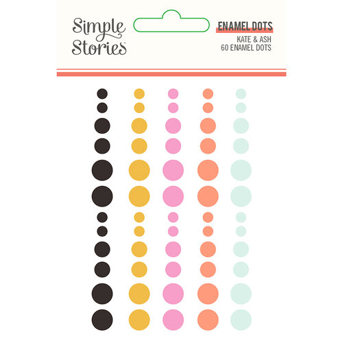 Simple Stories - Kate and Ash Collection - Self Adhesive Enamel Dots