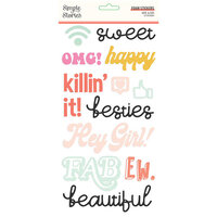 Simple Stories - Kate and Ash Collection - Foam Stickers