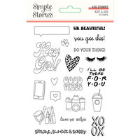 Simple Stories - Kate and Ash Collection - Clear Photopolymer Stamps
