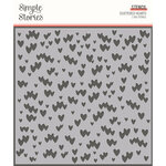 Simple Stories - Kate and Ash Collection - 6 x 6 Stencil - Scattered Hearts