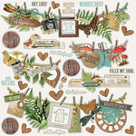 Simple Stories - Simple Vintage Great Escape Collection - 12 x 12 Cardstock Stickers - Banner
