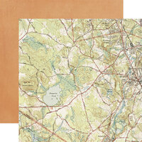 Simple Stories - Simple Vintage Great Escape Collection - 12 x 12 Double Sided Paper - Made to Wander