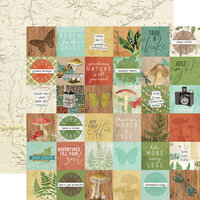 Simple Stories - Simple Vintage Great Escape Collection - 12 x 12 Double Sided Paper - 2 x 2 Elements