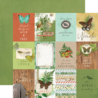 Simple Stories - Simple Vintage Great Escape Collection - 12 x 12 Double Sided Paper - 3 x 4 Elements
