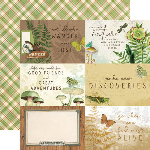 Simple Stories - Simple Vintage Great Escape Collection - 12 x 12 Double Sided Paper - 4 x 6 Elements
