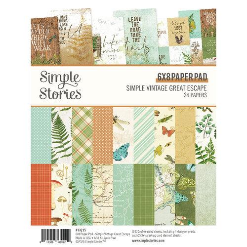 Simple Stories - Simple Vintage Great Escape Collection - 6 x 8 Paper Pad
