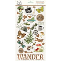 Simple Stories - Simple Vintage Great Escape Collection - 6 x 12 Chipboard Stickers