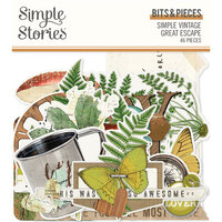 Simple Stories - Simple Vintage Great Escape Collection - Ephemera - Bits and Pieces