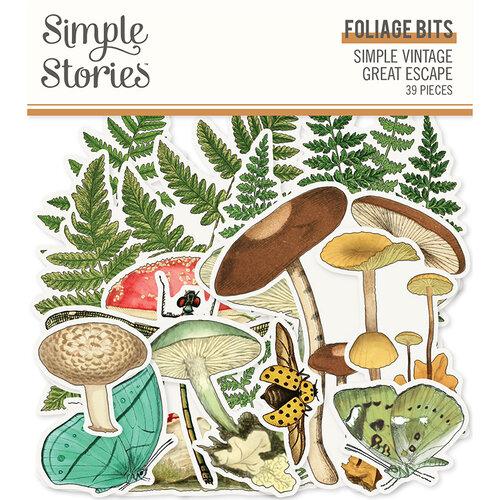 Simple Stories - Simple Vintage Great Escape Collection - Ephemera - Foliage Bits and Pieces