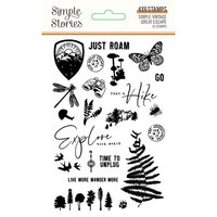 Simple Stories - Simple Vintage Great Escape Collection - Clear Photopolymer Stamps