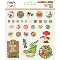 Simple Stories - Simple Vintage Great Escape Collection - Decorative Brads