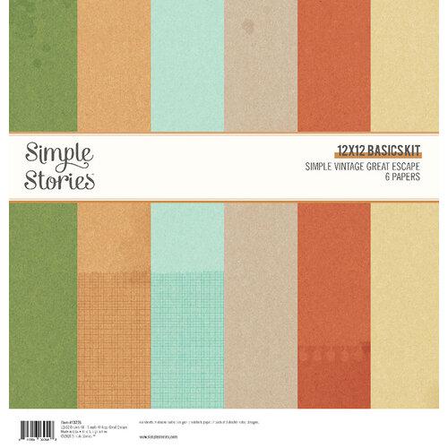 Simple Stories - Simple Vintage Great Escape Collection - 12 x 12 Basics Paper Kit