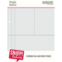 Simple Stories - SNAP Studio Flipbook Collection - 6 x 8 Flipbook Pages - 3 x 4 and 4 x 6 Pack Refills