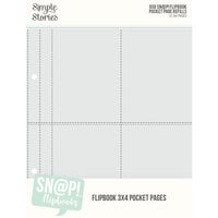 Simple Stories - SNAP Studio Flipbook Collection - 6 x 8 Flipbook Pages - 3 x 4 Pack Refills