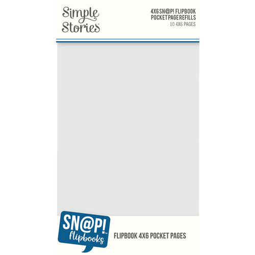 Simple Stories - SNAP Studio Flipbook Collection - 4 x 6 Flipbook Pages - 4 x 6 Pack Refills