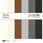Simple Stories - Color Vibe Collection - 12 x 12 Textured Cardstock Kit - Basics