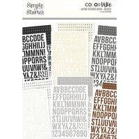 Simple Stories - Color Vibe Collection - Sticker Book - Alpha - Basics
