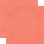 Simple Stories - Color Vibe Collection - 12 x 12 Double Sided Paper - Coral