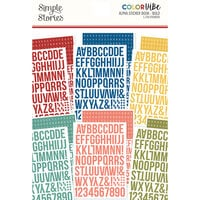 Simple Stories - Color Vibe Collection - Sticker Book - Alpha - Bolds