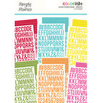Simple Stories - Color Vibe Collection - Sticker Book - Alpha - Brights