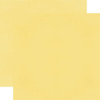 Simple Stories - Color Vibe Collection - 12 x 12 Double Sided Paper - Buttercup