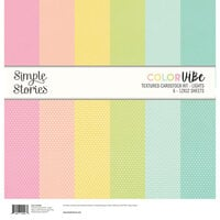 Simple Stories - Color Vibe Collection - 12 x 12 Textured Cardstock Kit - Lights