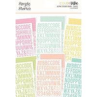 Simple Stories - Color Vibe Collection - Sticker Book - Alpha - Lights