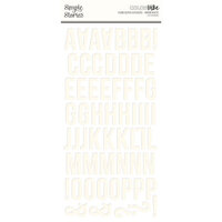 Simple Stories - Color Vibe Collection - 6 x 12 Foam Stickers - Alpha - Warm White
