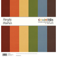 Simple Stories - Color Vibe Collection - 12 x 12 Textured Cardstock Kit - Fall