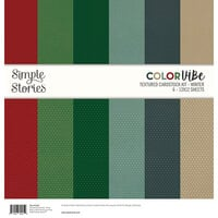 Simple Stories - Color Vibe Collection - 12 x 12 Textured Cardstock Kit - Winter