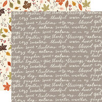 Simple Stories - Cozy Days Collection - 12 x 12 Double Sided Paper - Harvest Wishes