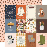 Simple Stories - Cozy Days Collection - 12 x 12 Double Sided Paper - 3 x 4 Elements