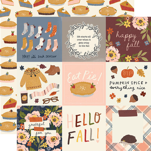 Simple Stories - Cozy Days Collection - 12 x 12 Double Sided Paper - 4 x 4 Elements