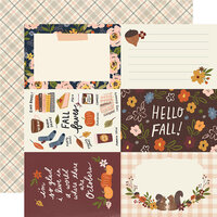 Simple Stories - Cozy Days Collection - 12 x 12 Double Sided Paper - 4 x 6 Elements