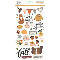 Simple Stories - Cozy Days Collection - 6 x 12 Chipboard Stickers