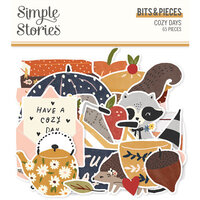 Simple Stories - Cozy Days Collection - Ephemera - Bits and Pieces