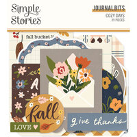 Simple Stories - Cozy Days Collection - Ephemera - Journal Bits