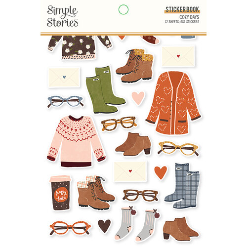 Simple Stories - Cozy Days Collection - Sticker Book