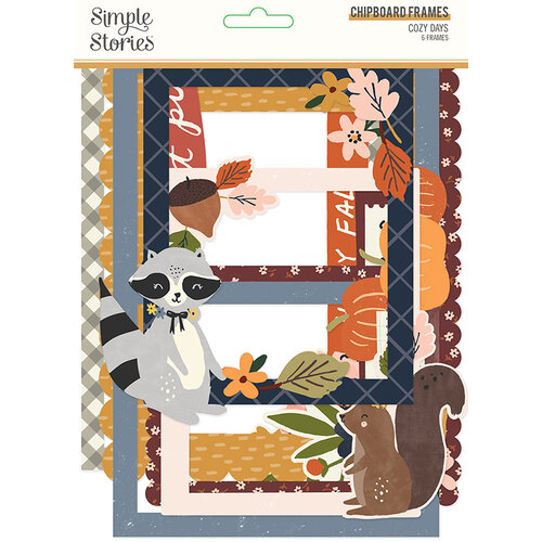 Simple Stories - Cozy Days Collection - Chipboard Frames