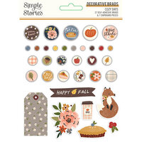Simple Stories - Cozy Days Collection - Decorative Brads