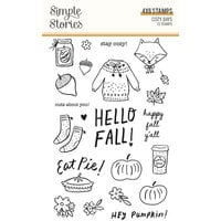 Simple Stories - Cozy Days Collection - Clear Photopolymer Stamps