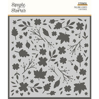 Simple Stories - Cozy Days Collection - 6 x 6 Stencil - Falling Leaves