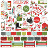 Simple Stories - Simple Vintage North Pole Collection - 12 x 12 Cardstock Stickers