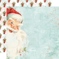Simple Stories - Simple Vintage North Pole Collection - 12 x 12 Double Sided Paper - St Nicholas