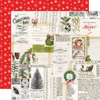 Simple Stories - Simple Vintage North Pole Collection - 12 x 12 Double Sided Paper - Merry Memories